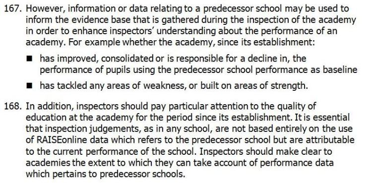 Ofsted Subsidiary Guidance - January 2014 p. 40
