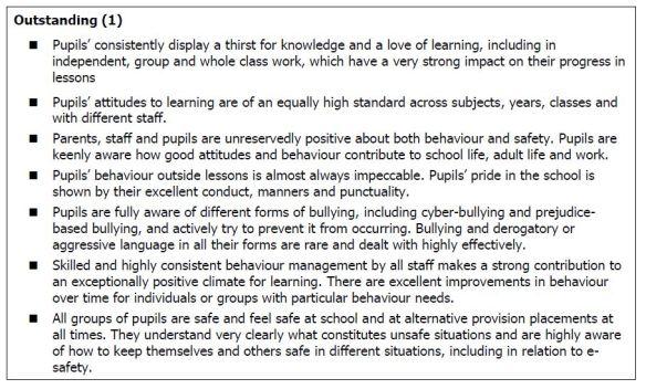 School Inspection Handbook - Outstanding