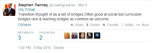 #SLTChat 9th March 2014 - Transition Bridges
