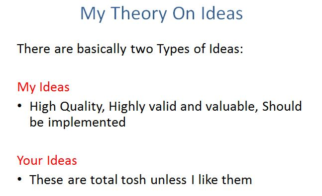 I'm Proud to Announce My New Theory of Ideas First presented at #NTENRED 3rd May 2014