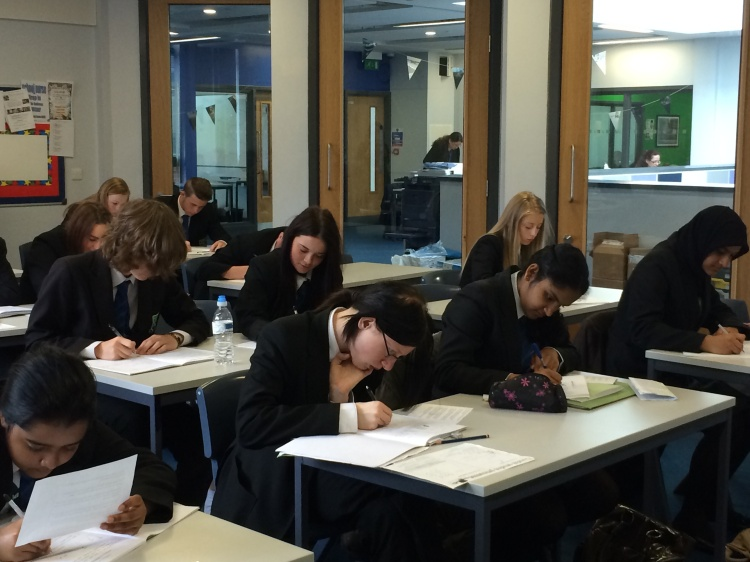 Y10 Geography Class working away (the first to be involved in Lesson Study)