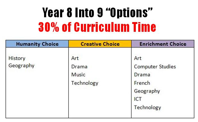 Year 8 into Year 9 Options at St. Mary's