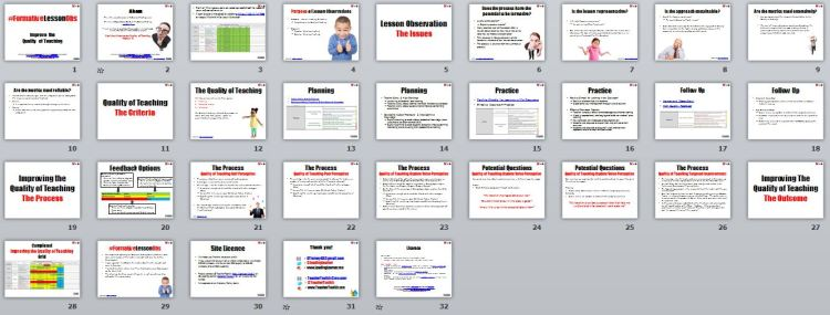 Overview of #FormativeLessonObs Selfy Resource by @LeadingLearner & @TeacherToolkit
