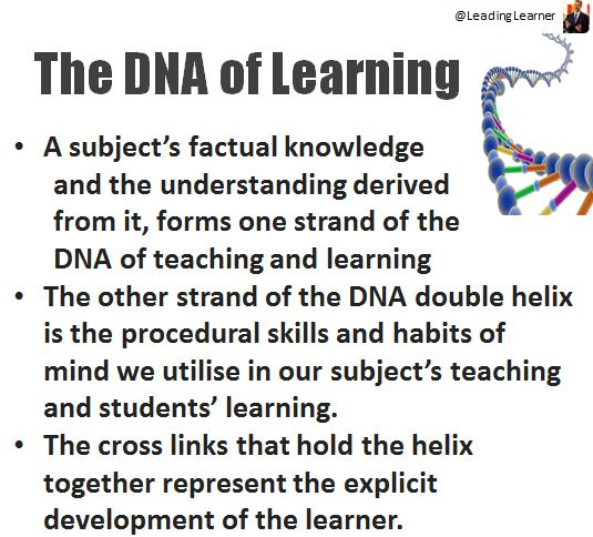 DNA of Learning