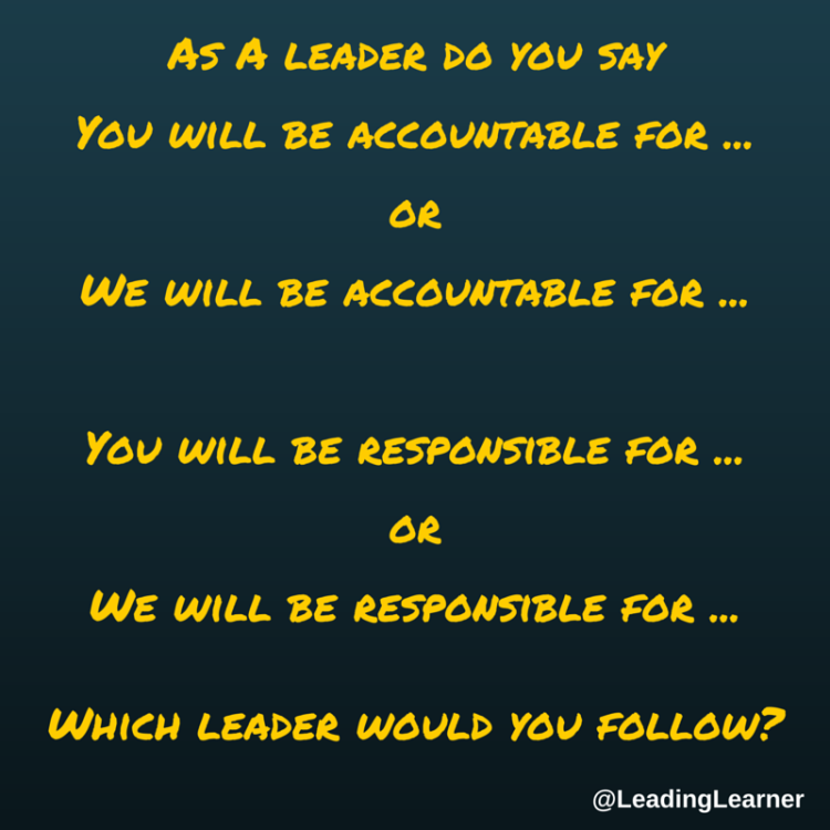 The You & We of Accountability and Responsibility