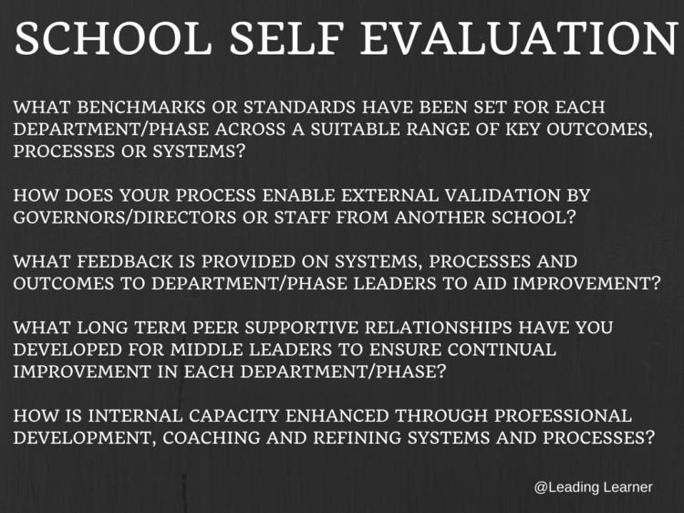 School Self Evaluation