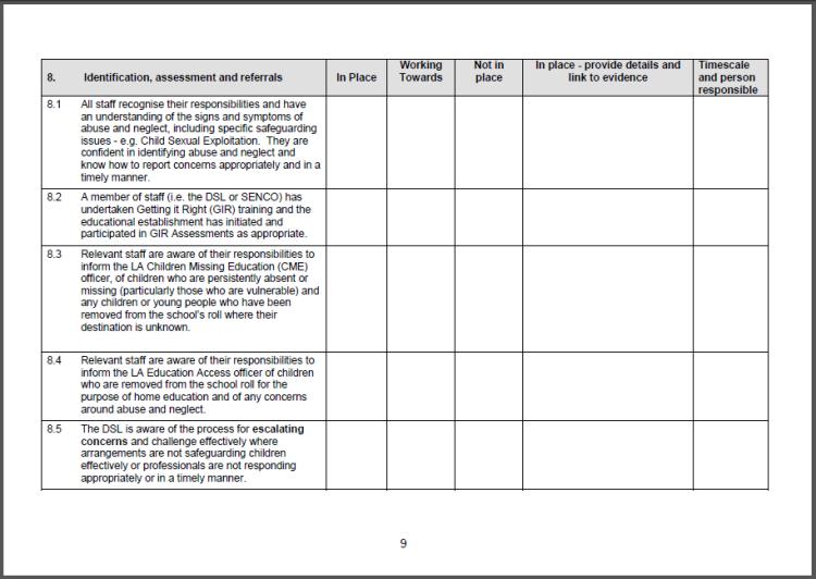 Identification, Assessments & Referrals