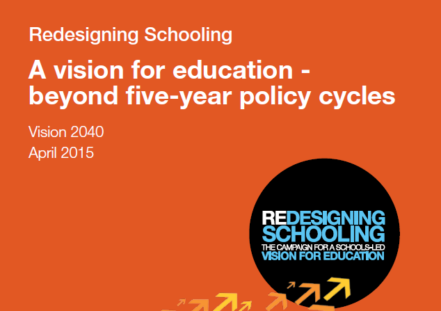 Acknowledgement: SSAT Redesigning Schools - A vision for education beyond five year policy cycles (April 2015)