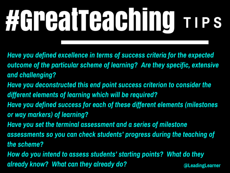 #GreatTeaching: Assessment (http://wp.me/p3Gre8-Ci)