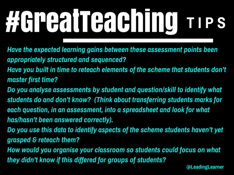 #GreatTeaching: Learning Gains (http://wp.me/p3Gre8-Ci)