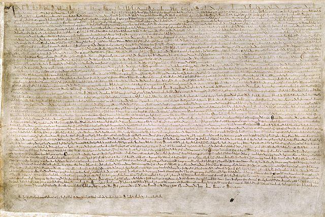 Magna Carta (British Library Cotton MS Augustus II.106)
