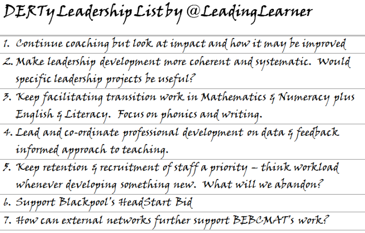 If you create a DERTy Leadership List please tweet it to me