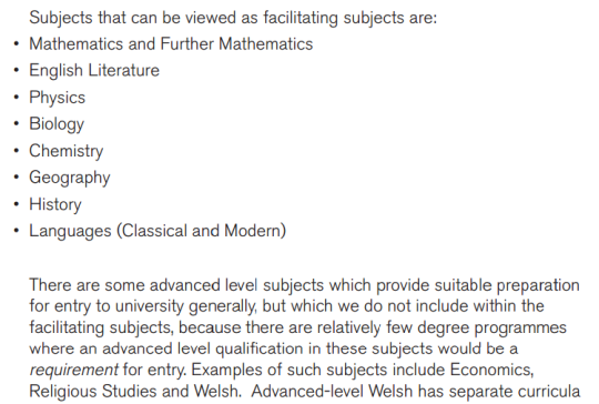 Acknowledgement: Russell Group Facilitating Subjects (Please click to read the full PDF)