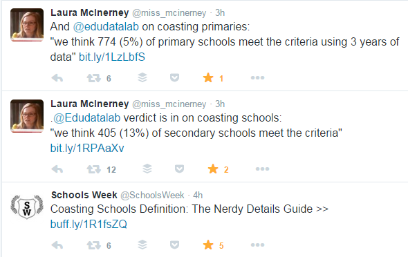 Laura McInerney & Schools Week have been fabulous on this issue today. Please click to read their nerdy guide.