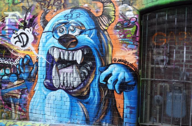 My photograph taken October 2014 in Melbourne. Original art by @jacklesdouglas