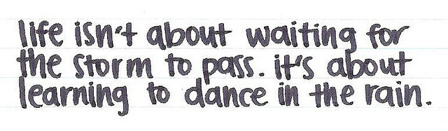 Dancing in the Rain Quote