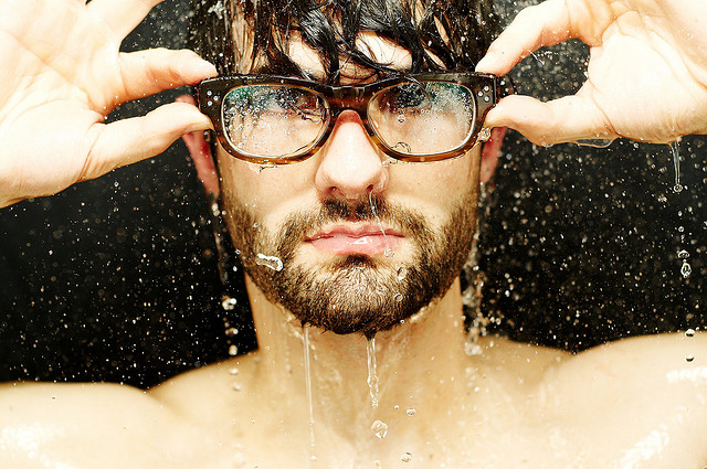 Rain on glasses