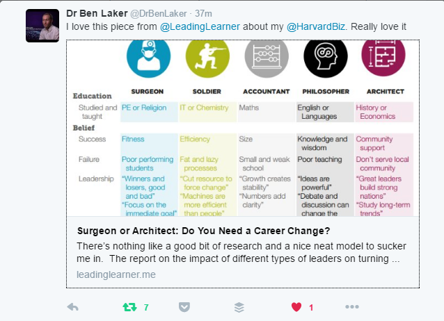 Thanks to Dr Ben Laker for taking the time to read the post