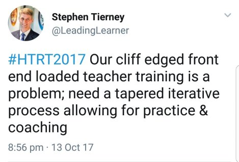Teacher Training and Development: Start with a Blank Piece of Paper#HTRT2017