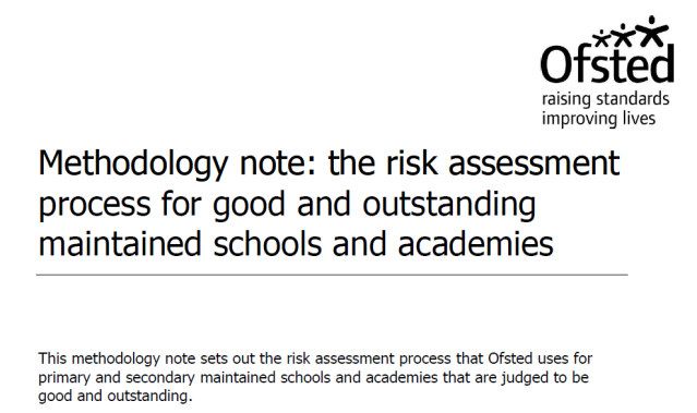 Ofsted's New Good and Outstanding Risk Assessment Machine | @LeadingLearner