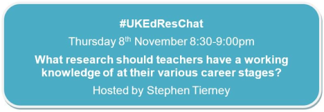 What Research/Theories should Teachers have a Working Knowledge of at their Various Career Stages? #UKEdResChat