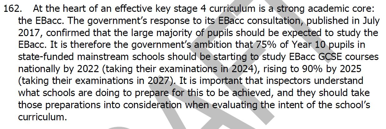 ofsted u2019s great colon problem  plus other curriculum issues